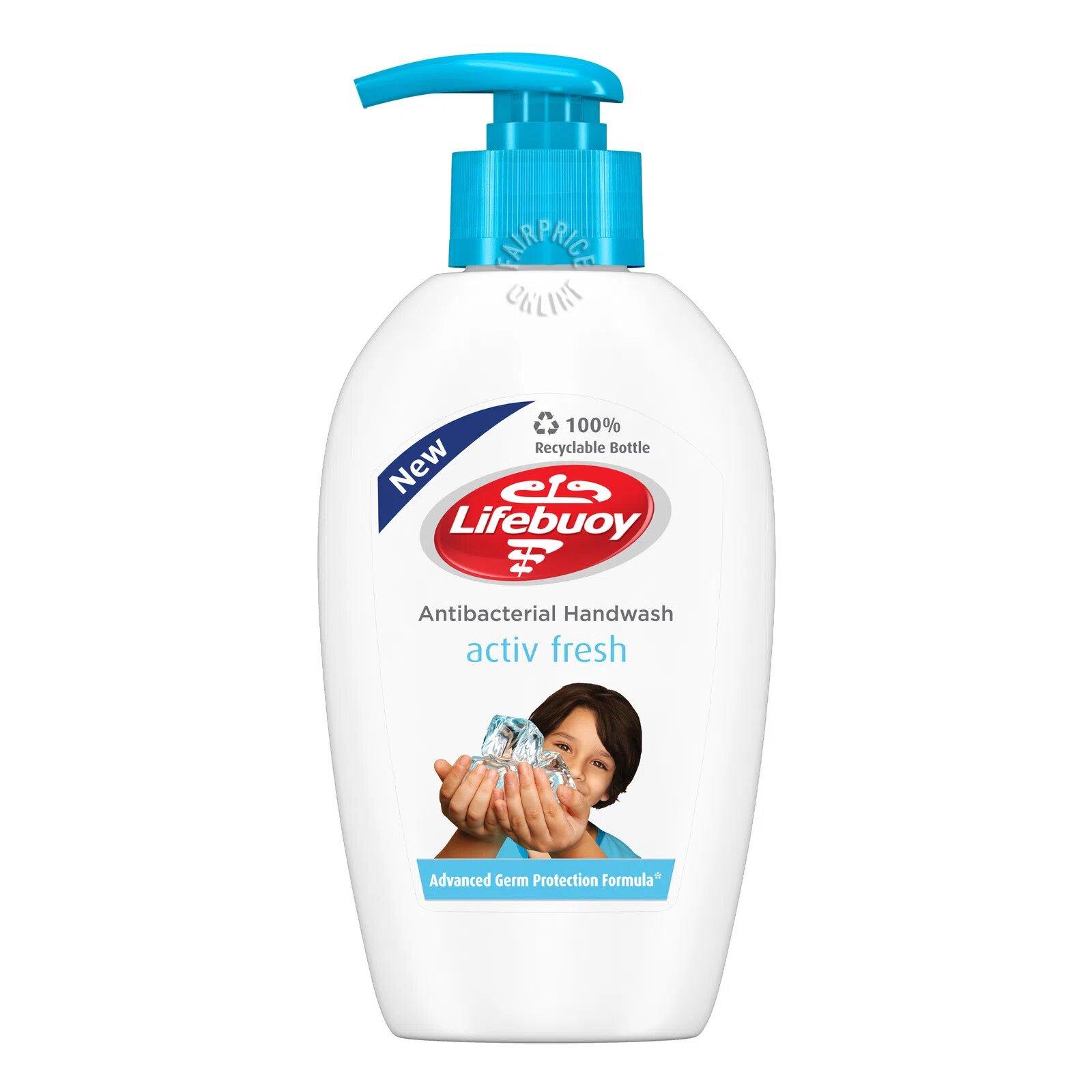 Lifebuoy Antibacterial Handwash - Activ Fresh (Menthol)