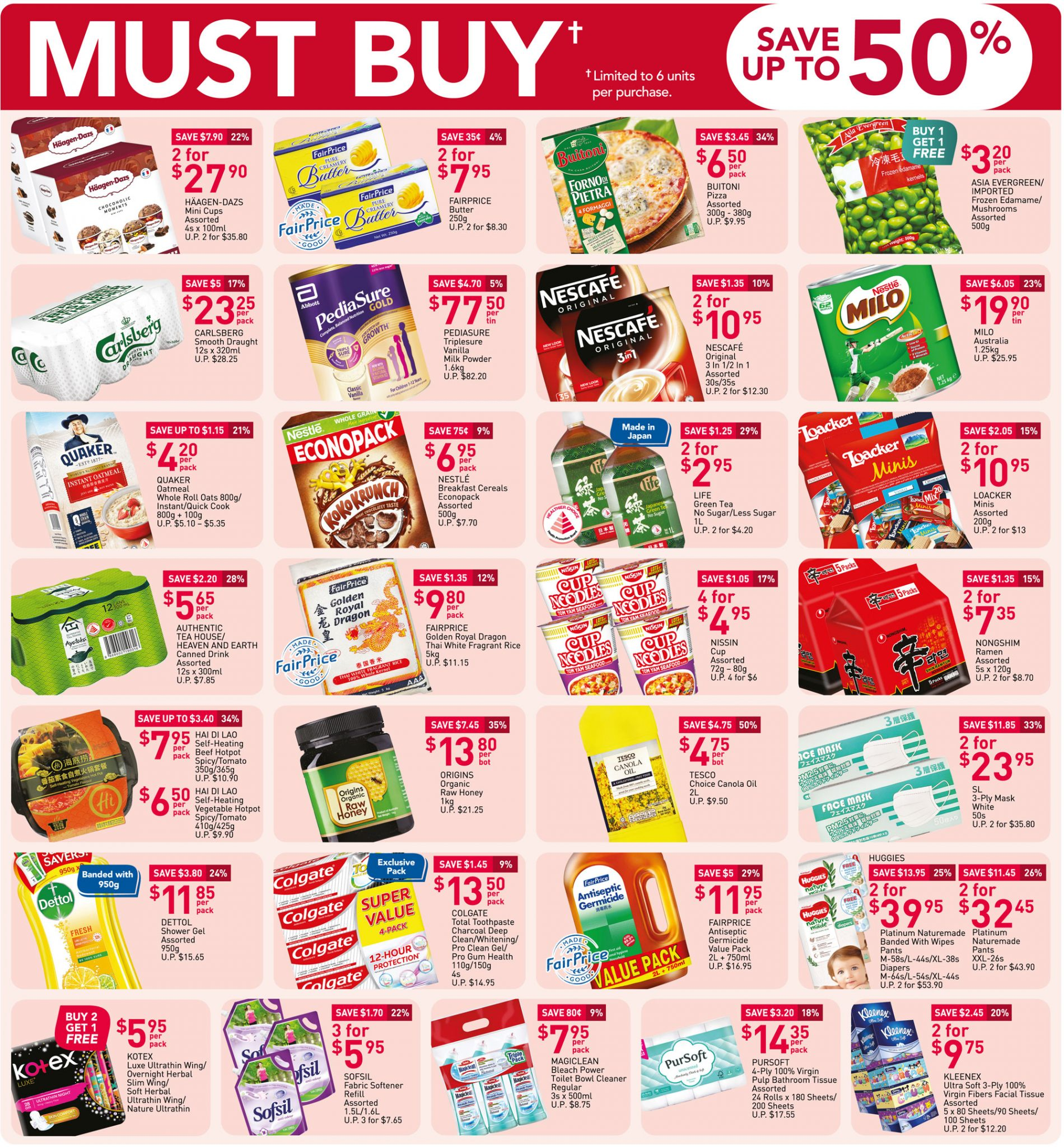 Must-buy items from now till 17 March 2021