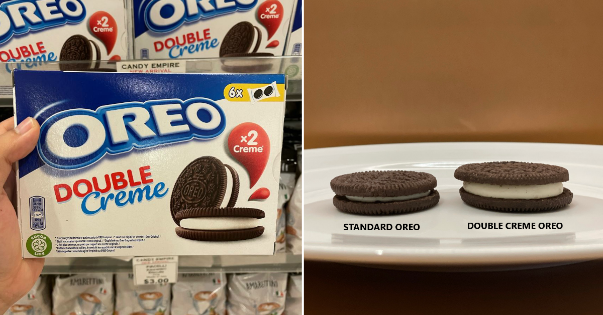 OREO with double crème filling now available in Singapore