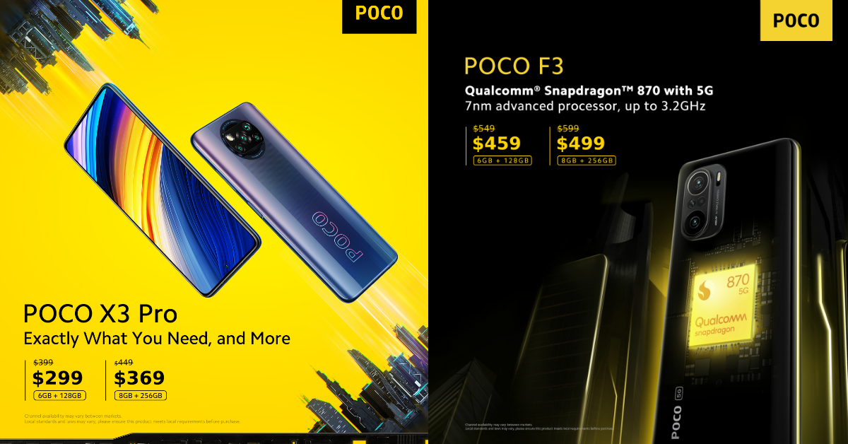 Get the latest Xiaomi POCO X3 Pro and POCO F3 during the Shopee Mega Online Tech Show happening from now till 28 March 2021