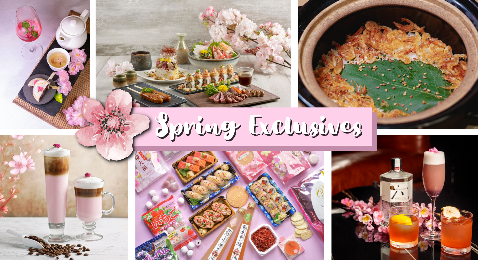 Can't Travel to Japan, these 10 F&Bs brings you Unique and Exclusive Sakura-themed Food & Drinks from just $2