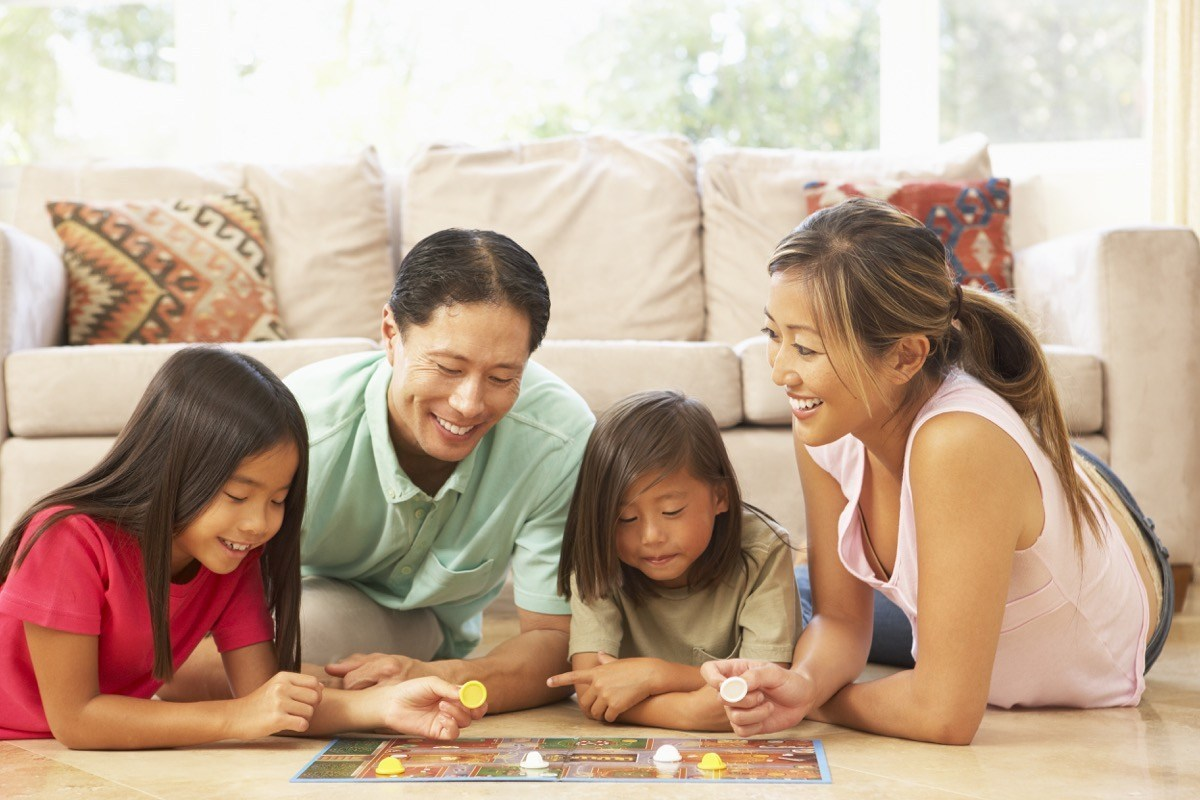 a-family-playing-board-games