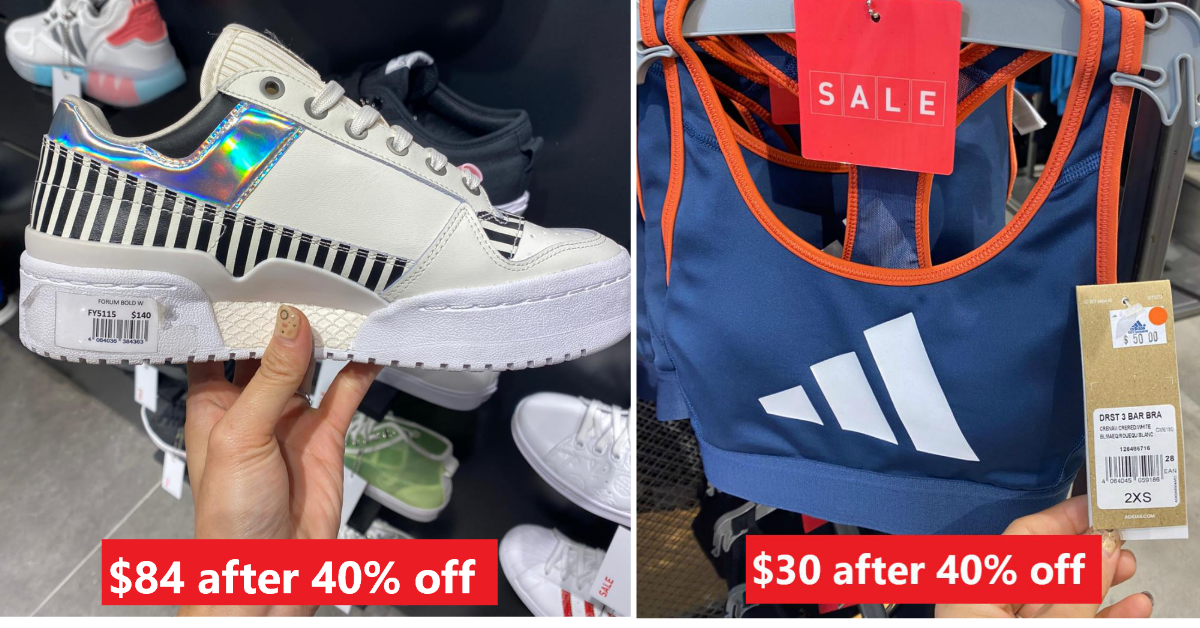 adidas offering 40% off Women's and Unisex Products from 5 to 8 Mar 2021