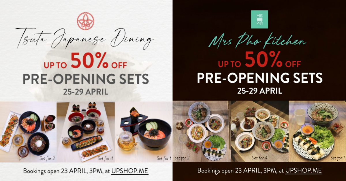 Up to 50% off deals at Tsuta Japanese Dining and Mrs Pho Kitchen when you dine from 25 to 29 April 2021