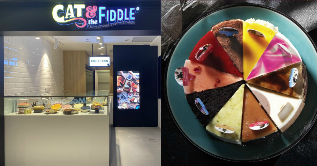 Cat & the Fiddle offering Buy-3-Get-3-Free slices of cheesecake at The Centrepoint from 19 - 21 Apr 2021