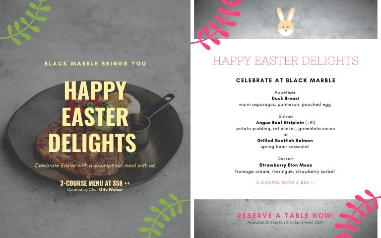 Celebrate Easter with an exquisite menu specially curated by renowned Chef Otto Weibel