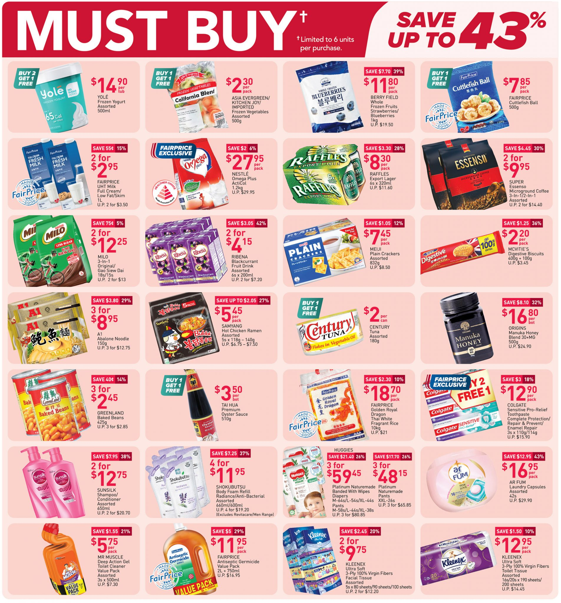 Must-buy items from now till 14 April 2021