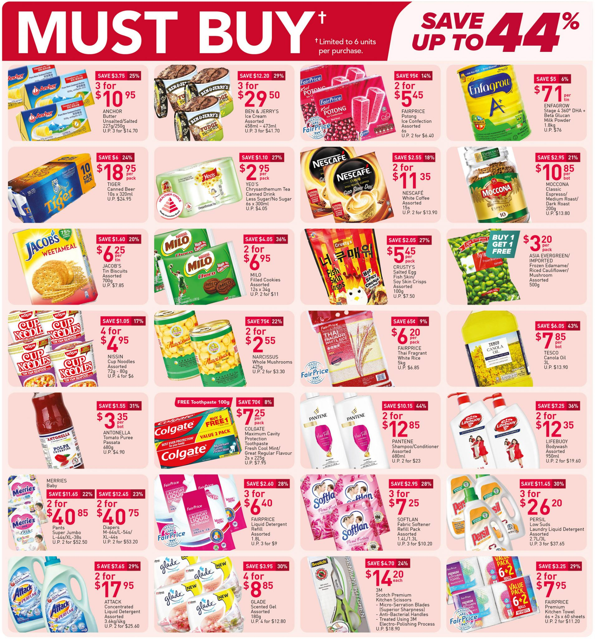 Must-buy items from now till 21 April 2021