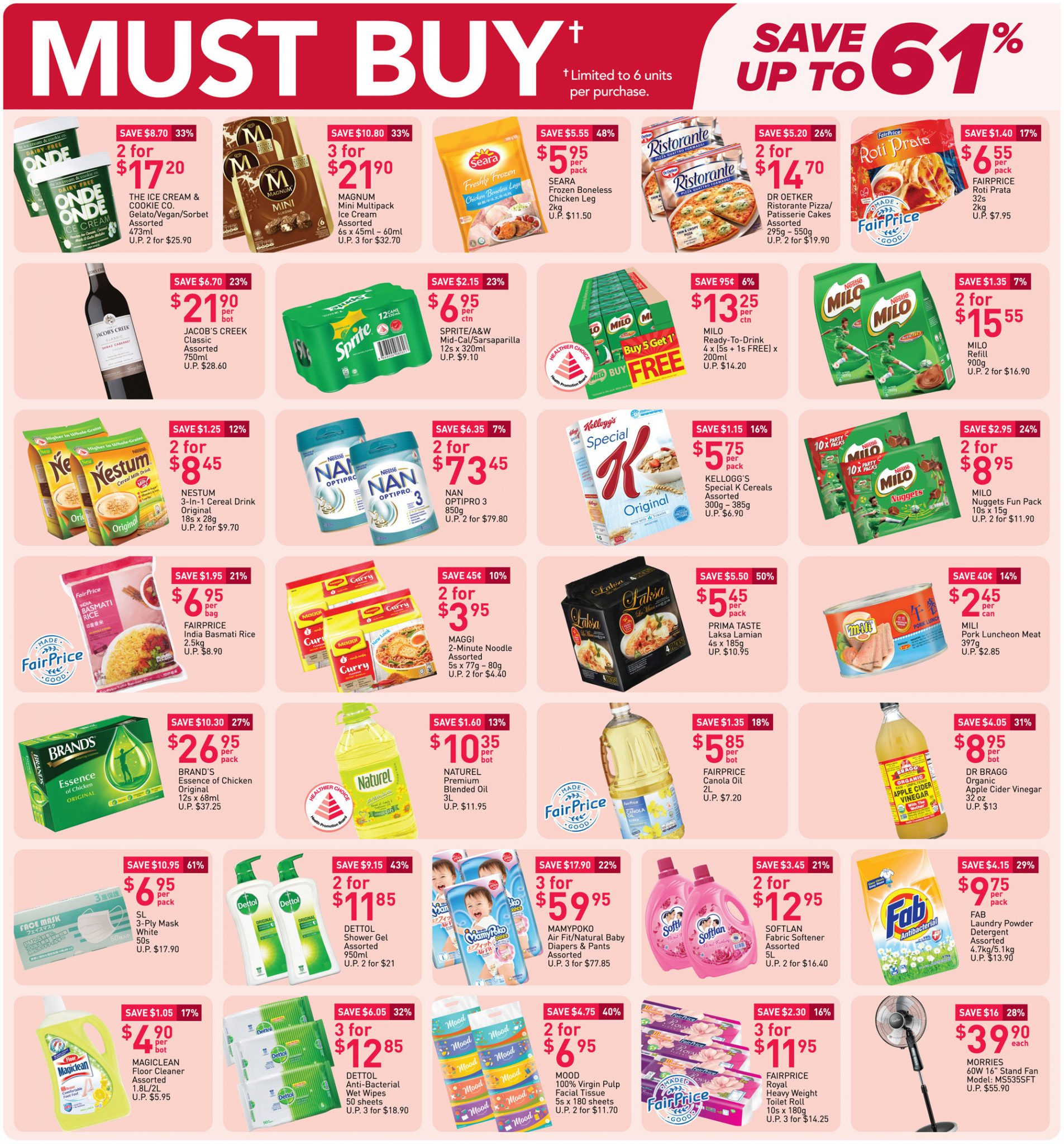 Must-buy items from now till 7 April 2021