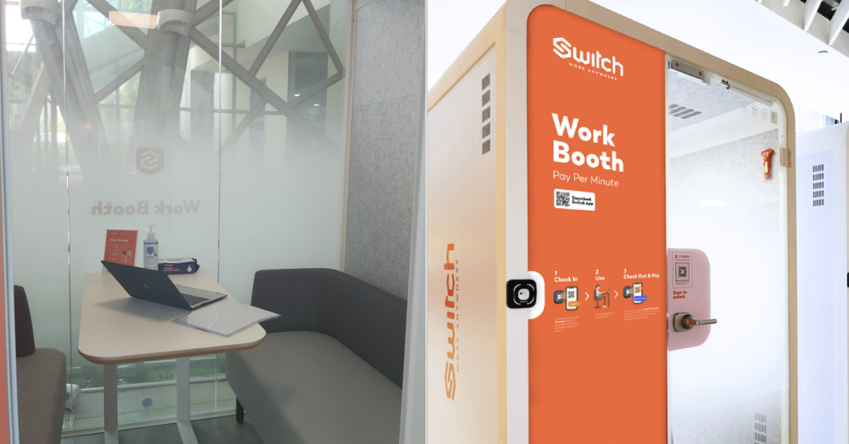 Work or study in a private booth at SAFRA Jurong; free one-time entry for first-time users