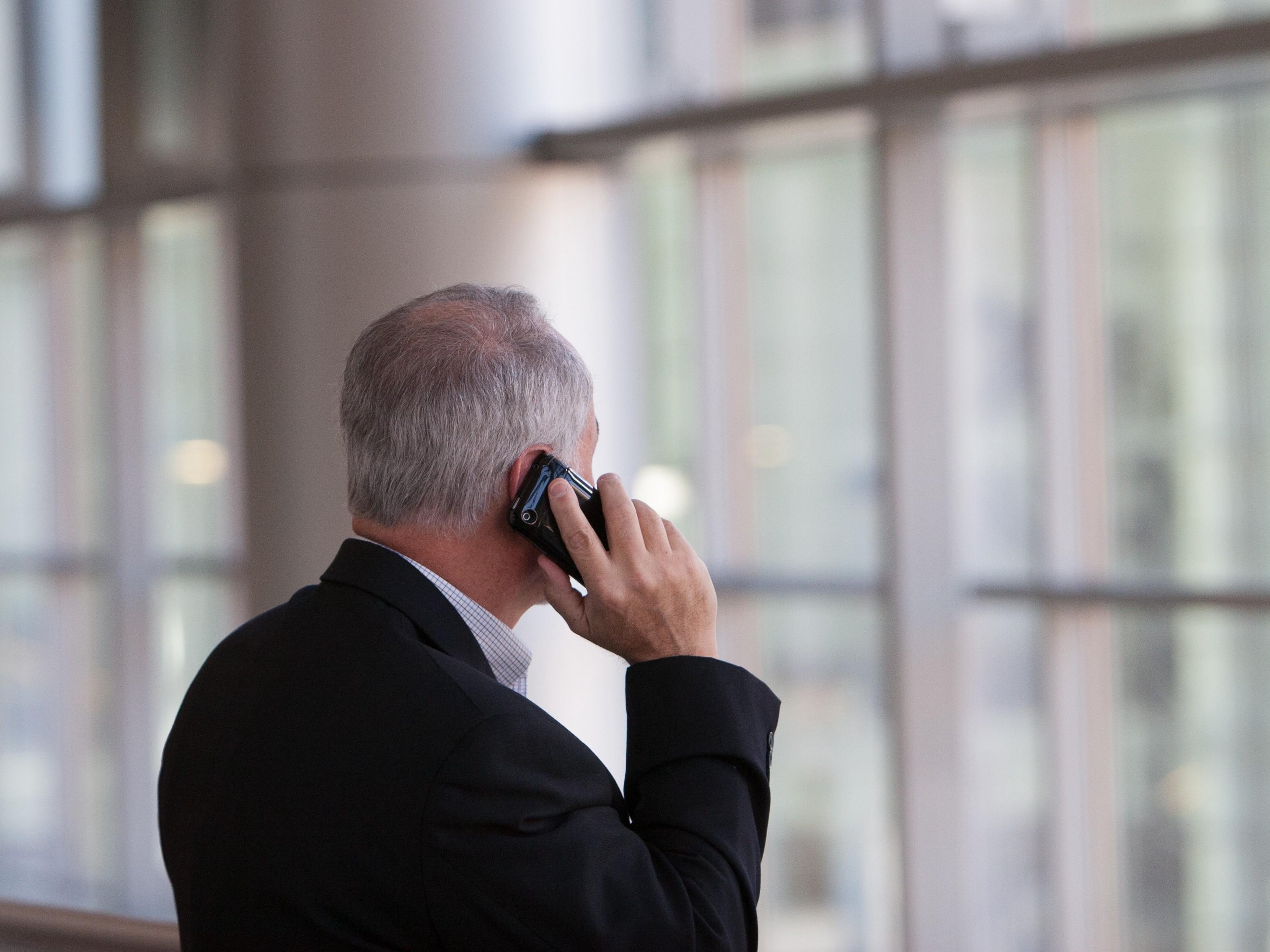 a man on a phone call