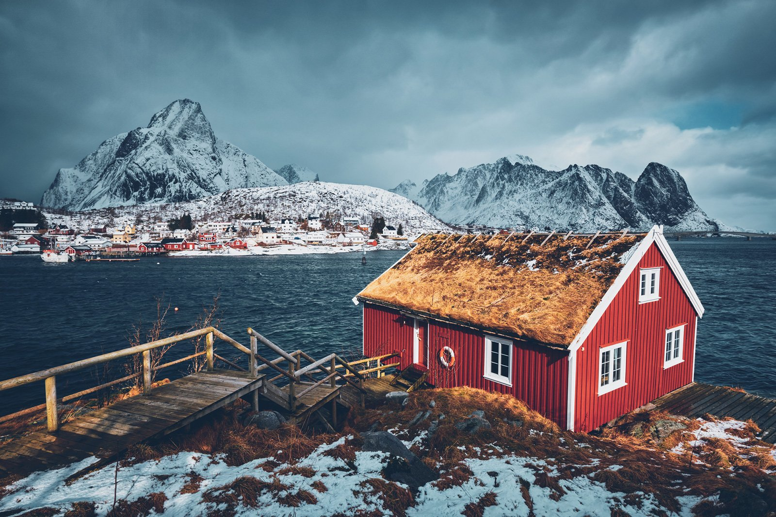 a red house in Norway