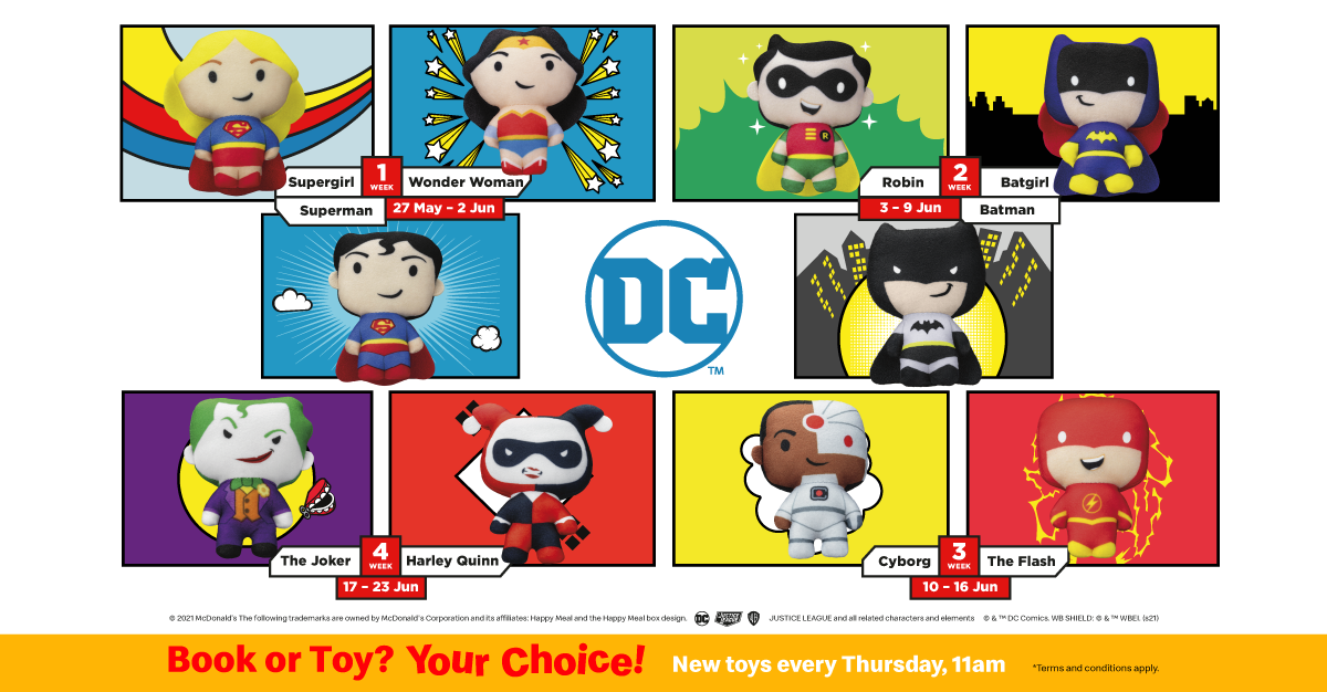 DC Superheroes Happy Meal® Toys Now Available at McDonald's