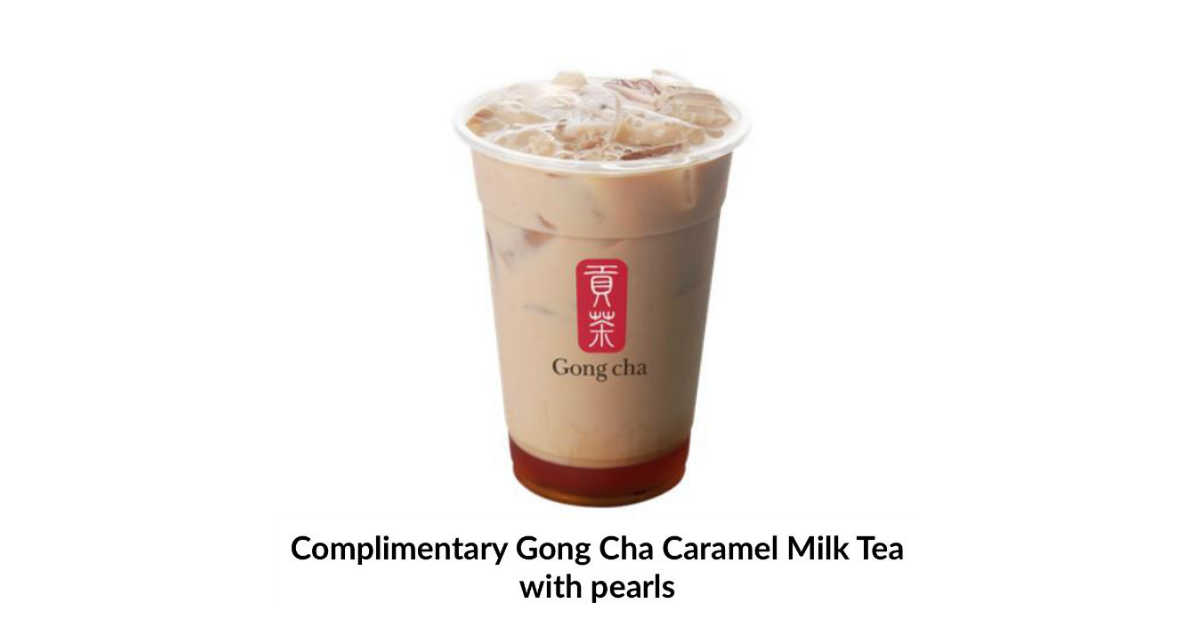 Free Gong Cha Caramel Milk tea with Pearls for Maybank Cardmembers from now till 20 Jun 21