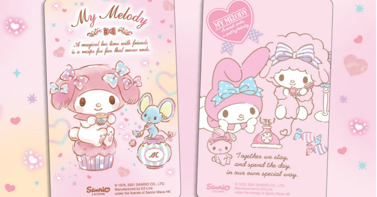 My Melody EZ-Link cards now available in two new designs