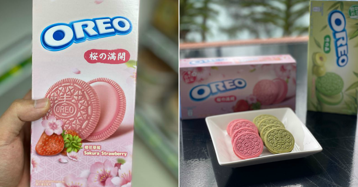 Oreo cookies in pink and green colours now available