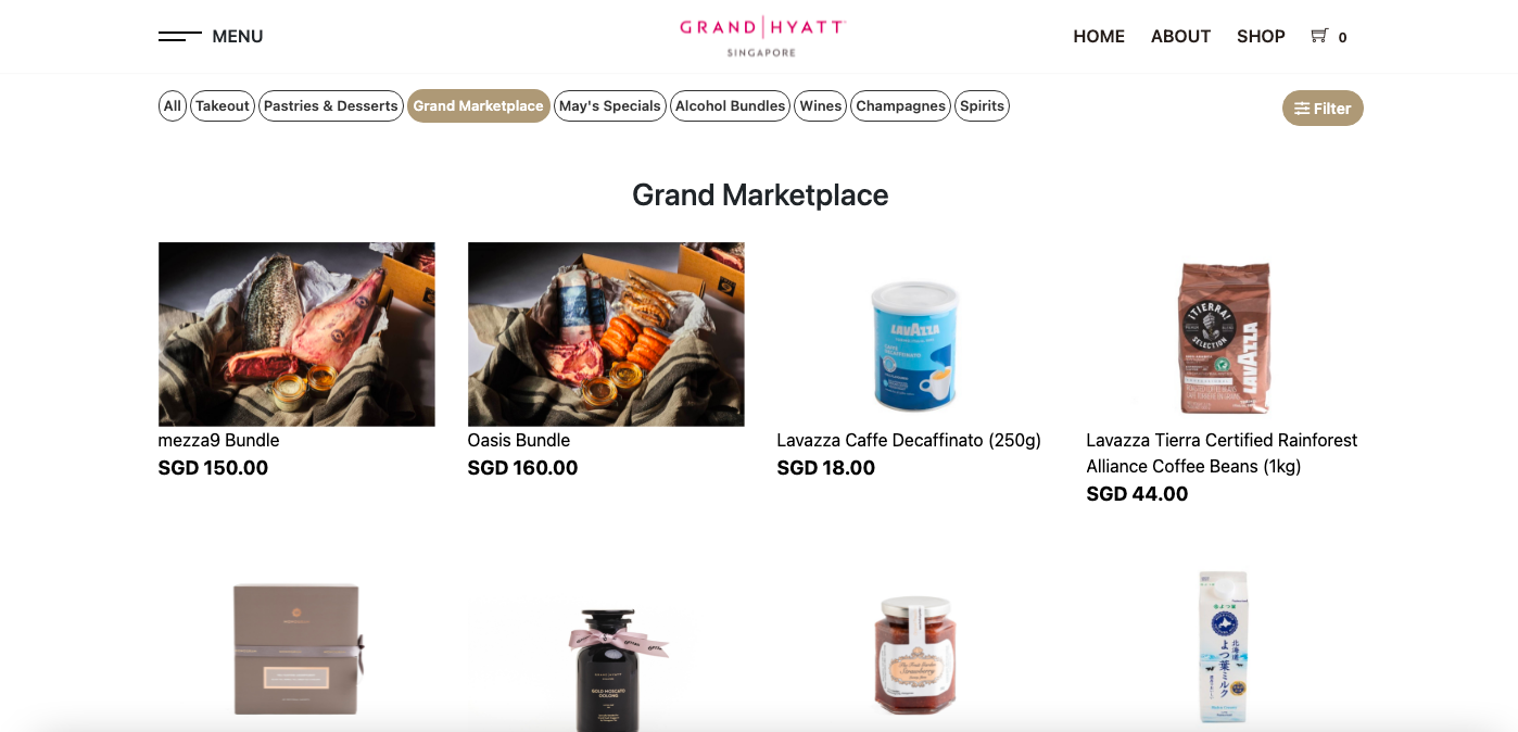 Grand Marketplace's homepage