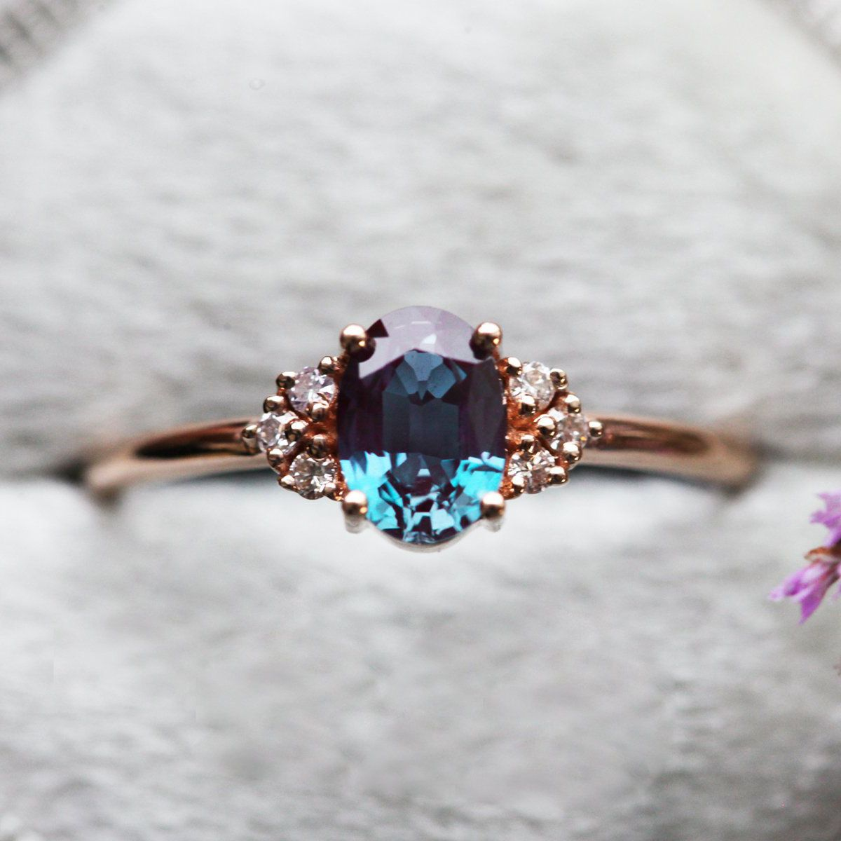 an alexandrite engagement ring