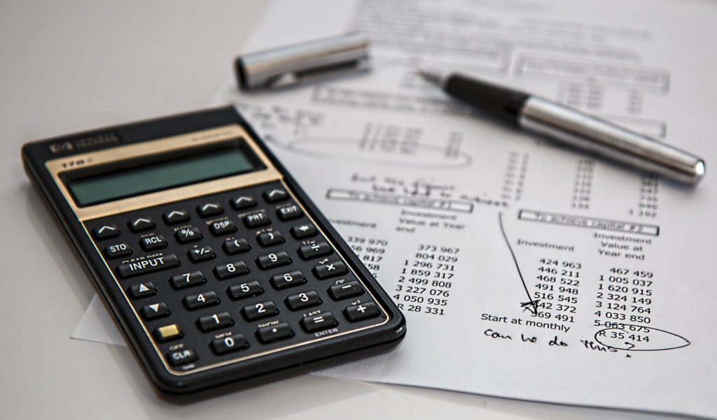 budgeting with a calculator