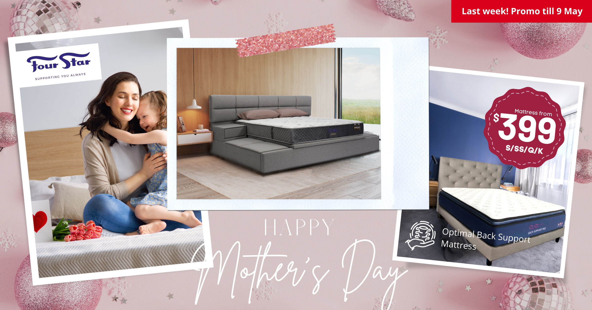 Four Star celebrates Mother's Day with 50% off storewide discount on premium mattresses, bed frames and more (6 - 9 May 21)