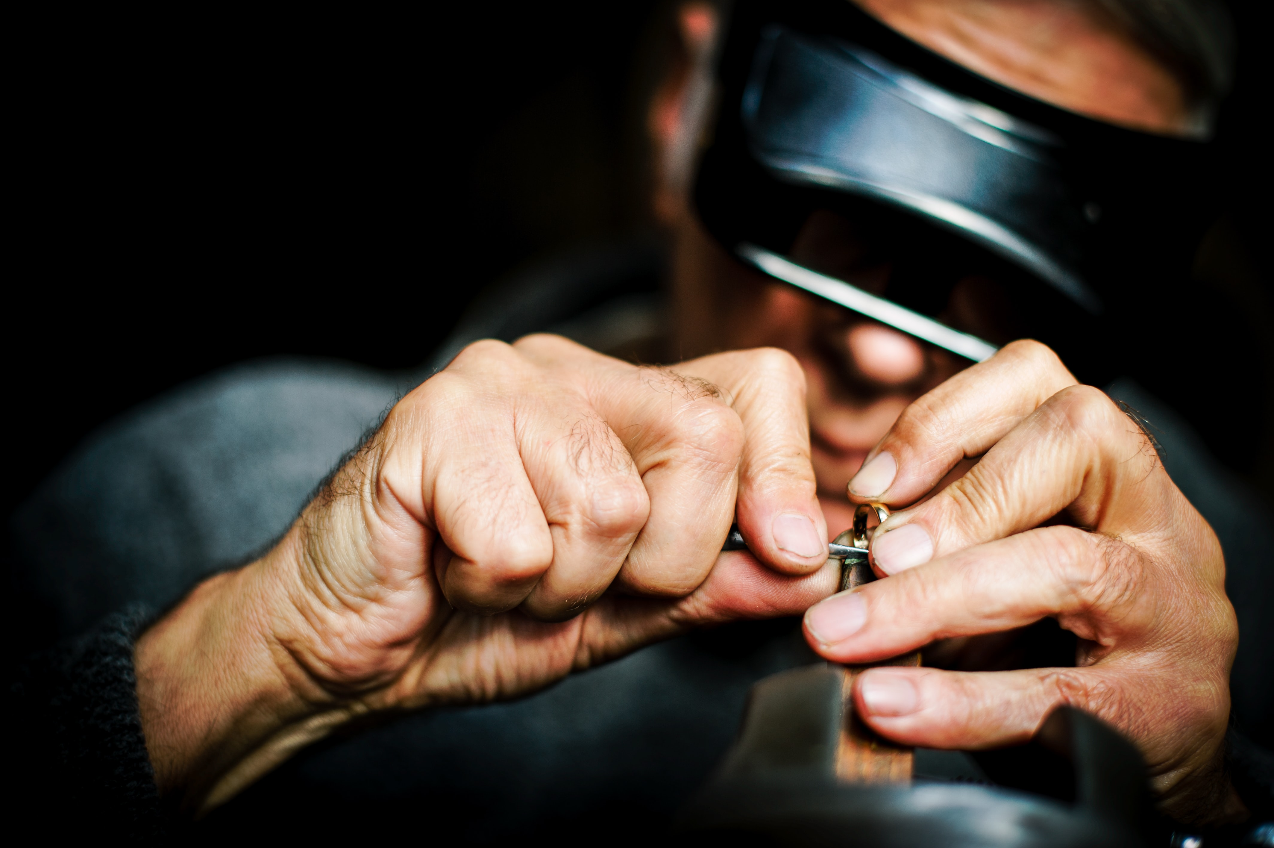 a man making a ring
