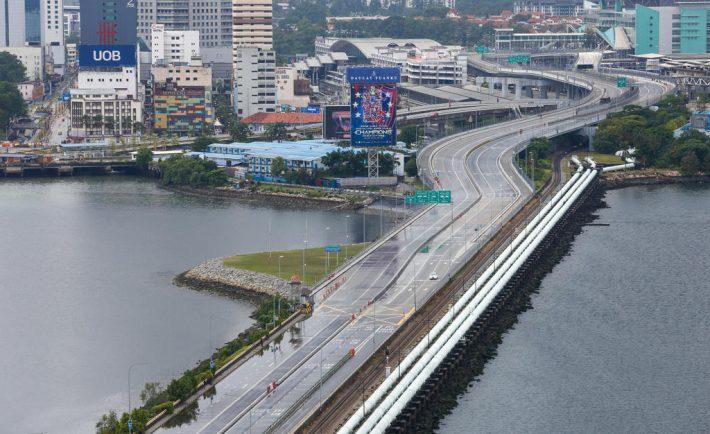 Empty Singapore Johor border