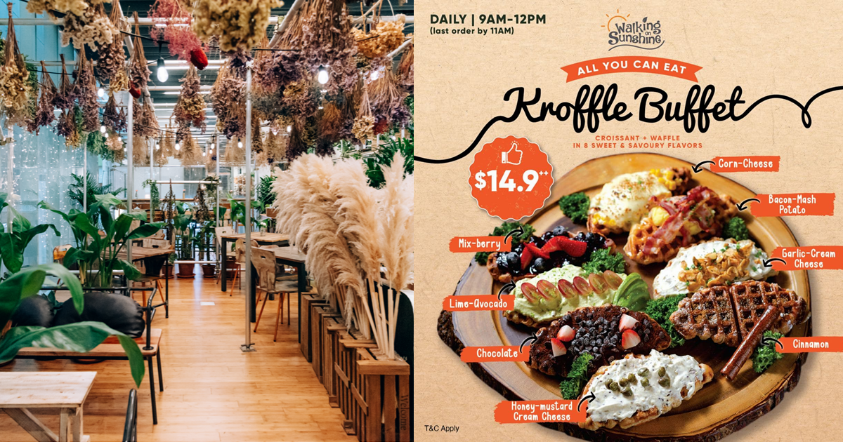 This unique cafe & salon located in Orchard Central has all-you-can-eat 'Kroffle' buffet for $14.90++ , and there are 8 flavours to choose from
