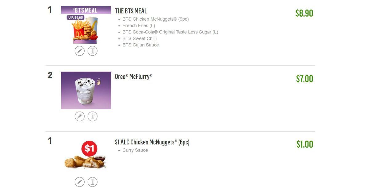 Ordering the BTS Meal on McDelivery? Use these coupon codes to get free treat for the month of June!