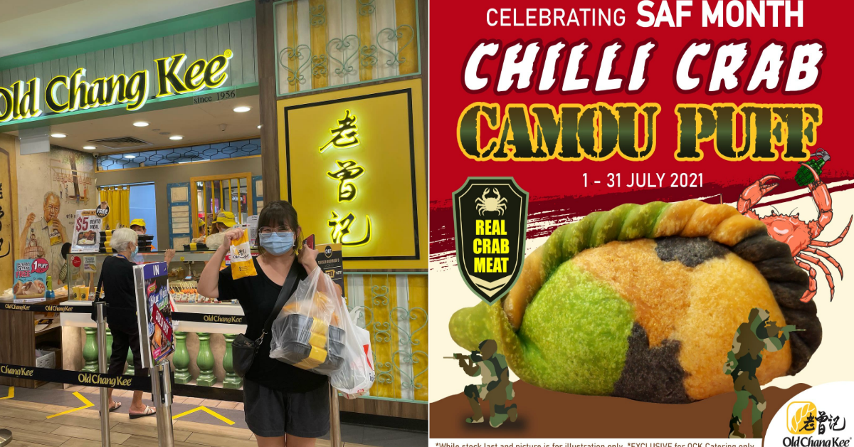 Old Chang Kee to bring back Camou Puff to celebrate SAF Day, this time with real chilli crab meat fillings