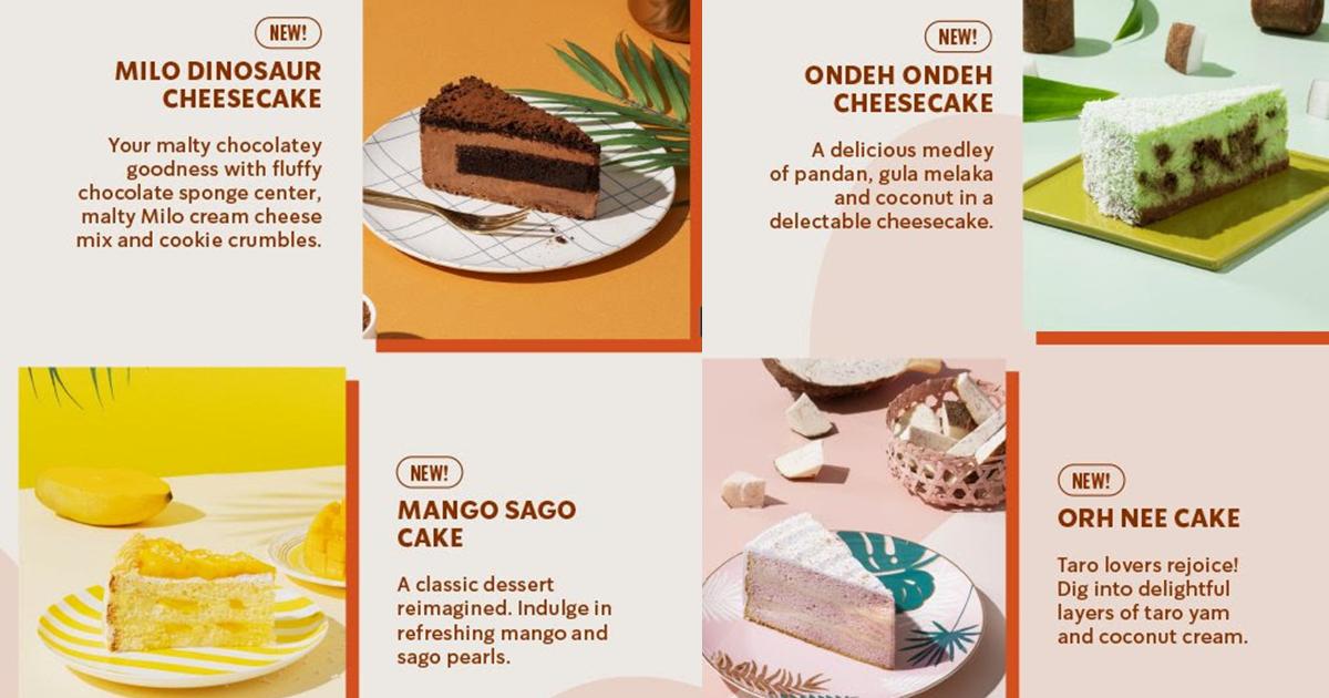 Starbucks S'pore launches Milo Dinosaur Cheesecake, Mango Sago Cake, Orh Nee Cake & More