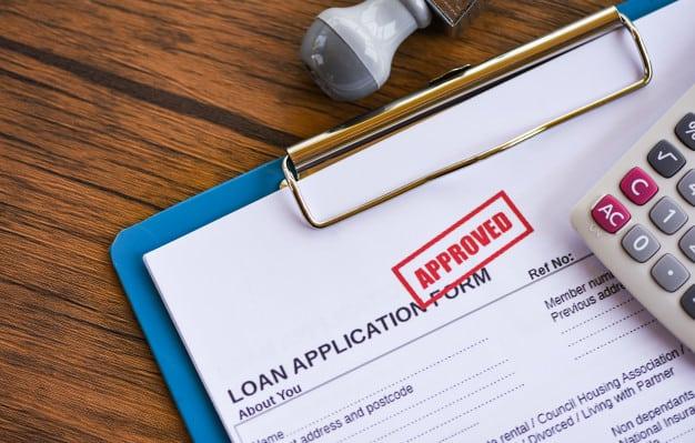 a loan application form
