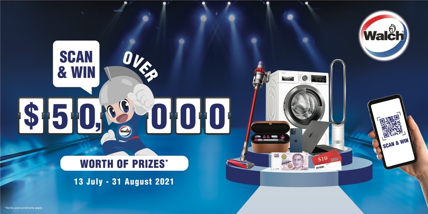 Win over $50,000 worth of attractive prizes with Walch® Scan & Win Promotion