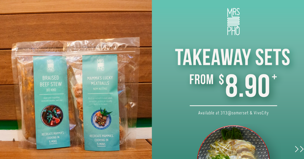 Mrs Pho offers Takeaway and Delivery sets from only $8.90!