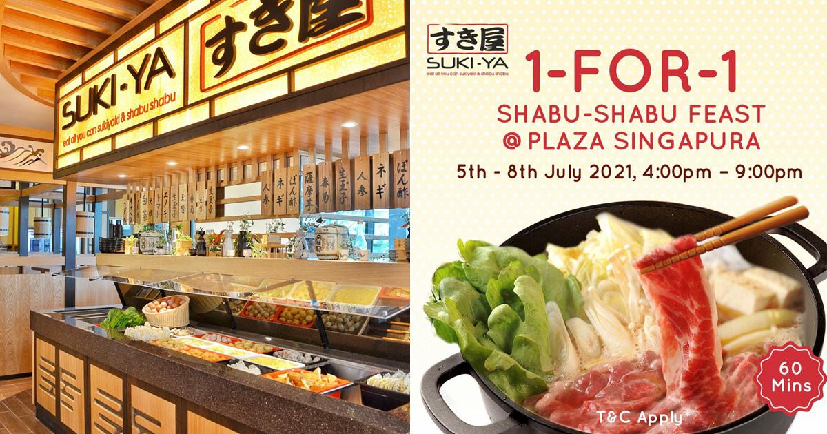 SUKI-YA offering 1-for-1 shabu-shabu buffet with free flow ice cream at Plaza Singapura from 5 - 8 July 2021