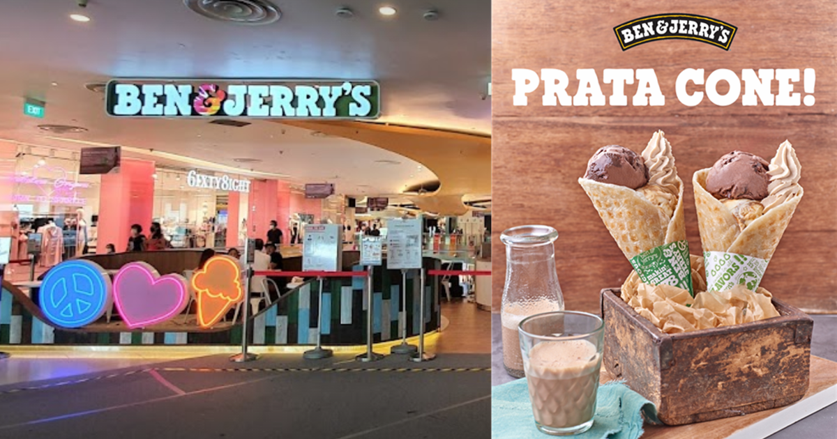 Ben & Jerry's at VivoCity will be selling Prata Cone from 16 Aug - 5 Sep 2021