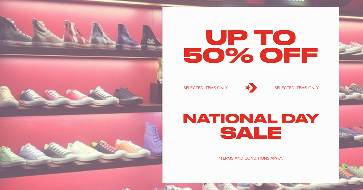 Converse celebrates National Day with up to 50% off selected items from now till 5 September 2021