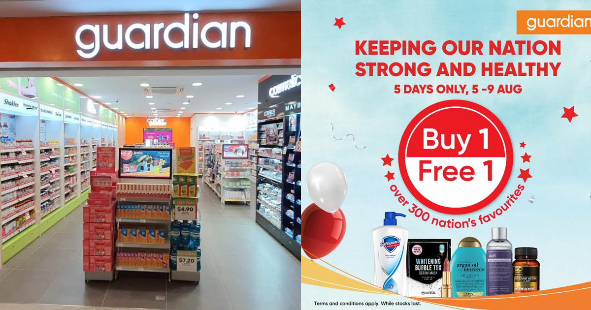 Buy 1 Get 1 Free For Over 170 Products At Guardian From Now Till 9 Aug 2021
