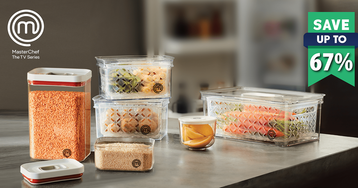 Redeem for MasterChef Food Storage Containers at Cold Storage from now till 31 Oct 2021