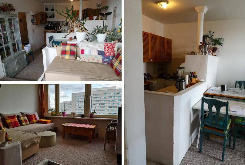 3 room apartment, center,
