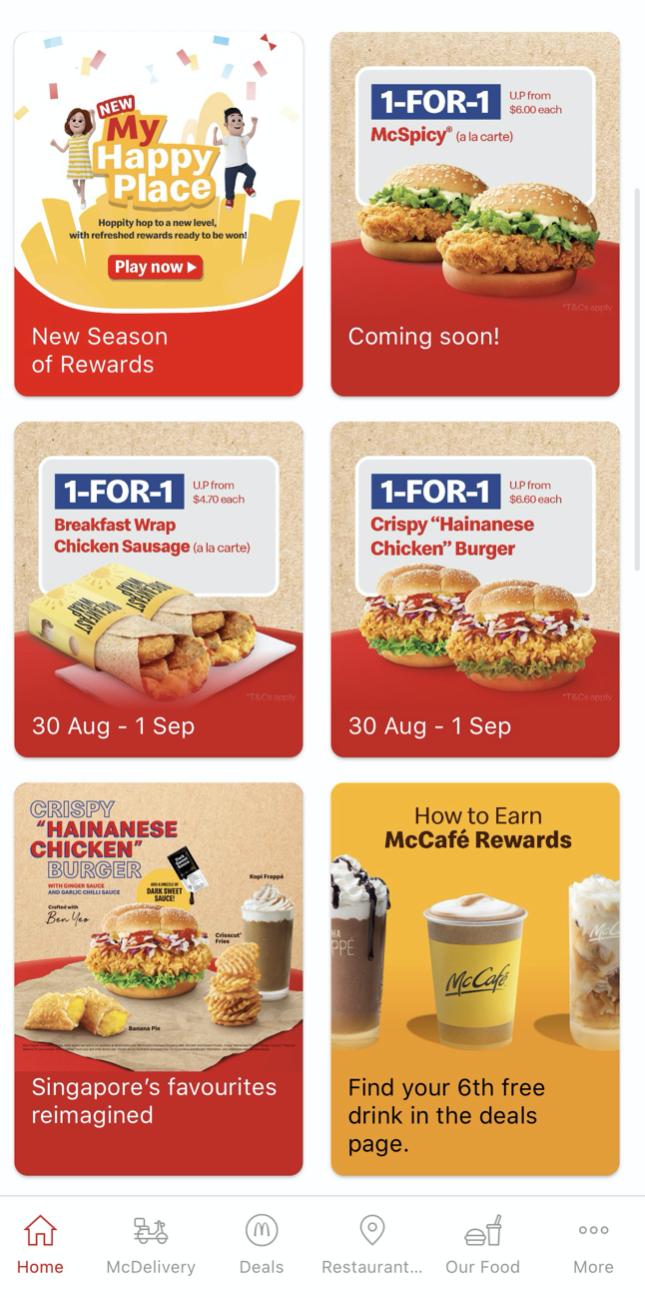 McDonald's: 1-FOR-1 Crispy Hainanese Chicken Burger & Breakfast Wrap Chicken Sausage (30 Aug - 1 Sep 21)