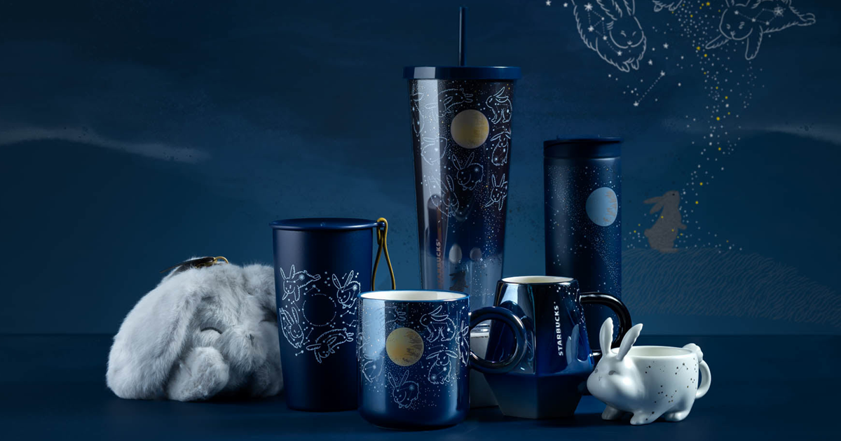 Starbucks S'pore launches new Mid-Autumn Drinkware Collection inspired by adorable bunnies