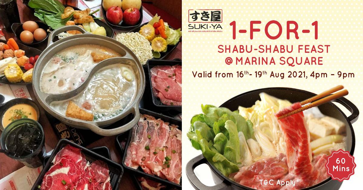 SUKI-YA has 1-for-1 Shabu Shabu buffet at Marina Square from $12.45++ per person