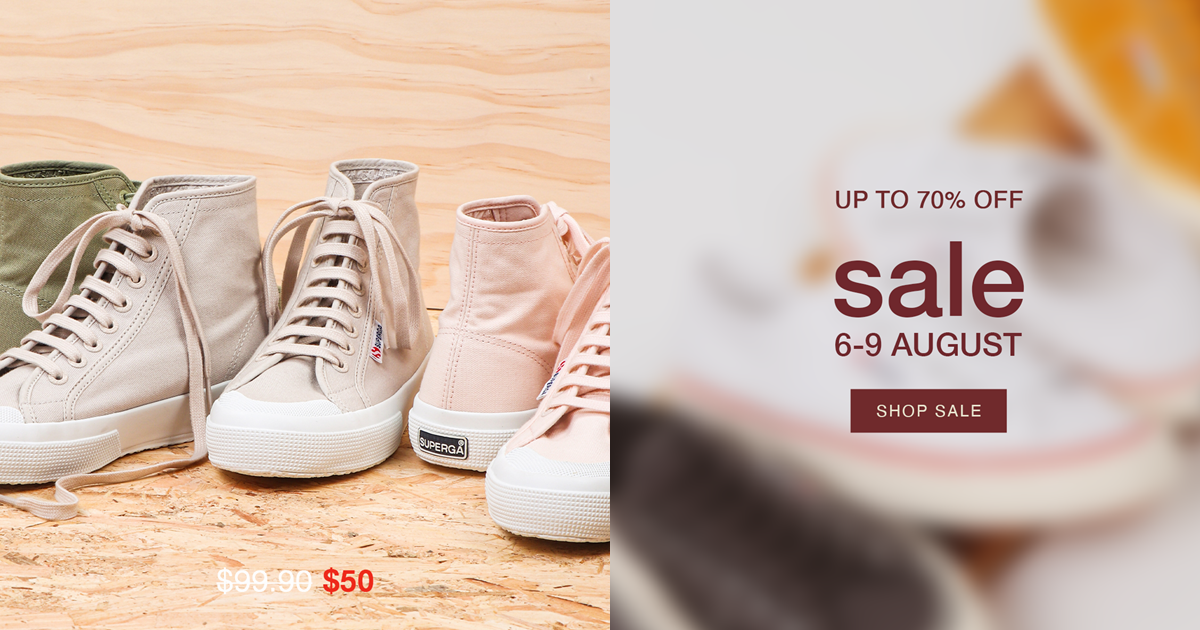 Superga's National Day Sale Is Now On. Enjoy Up To 70% Off With Price Starting From $10!