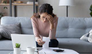 a woman facing financial anxiety