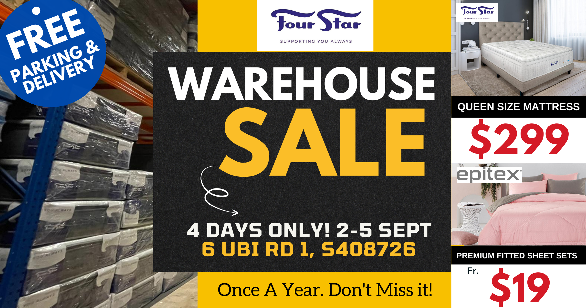 Ubi warehouse sale has over 1,000 mattress and storage beds to clear, price starts from S$199