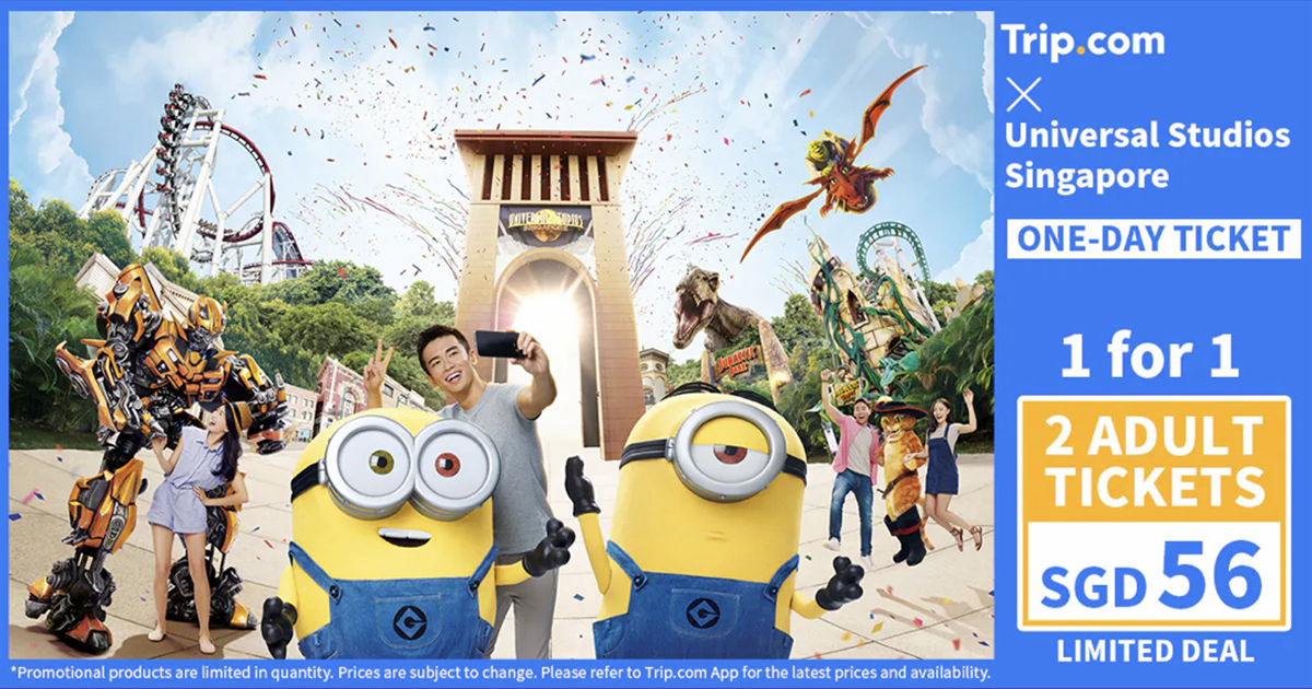 1-FOR-1 Tickets to Universal Studios Singapore™ at $56