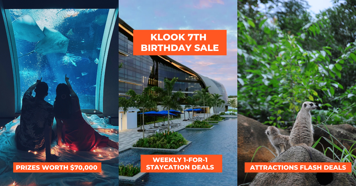 $70,000 Worth Of Prizes, 1-For-1 Staycations, Attractions Tickets For Klook's 7th Birthday Sale