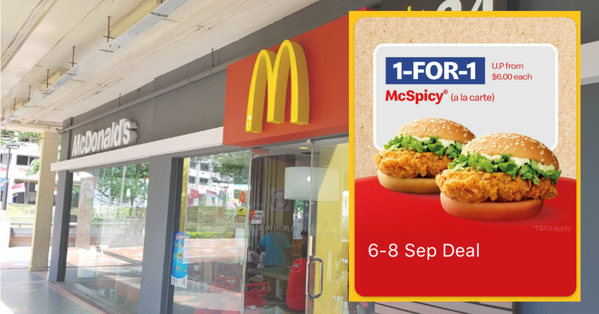 1-FOR-1 McSpicy Burger at McDonald's from 6 - 8 September 2021
