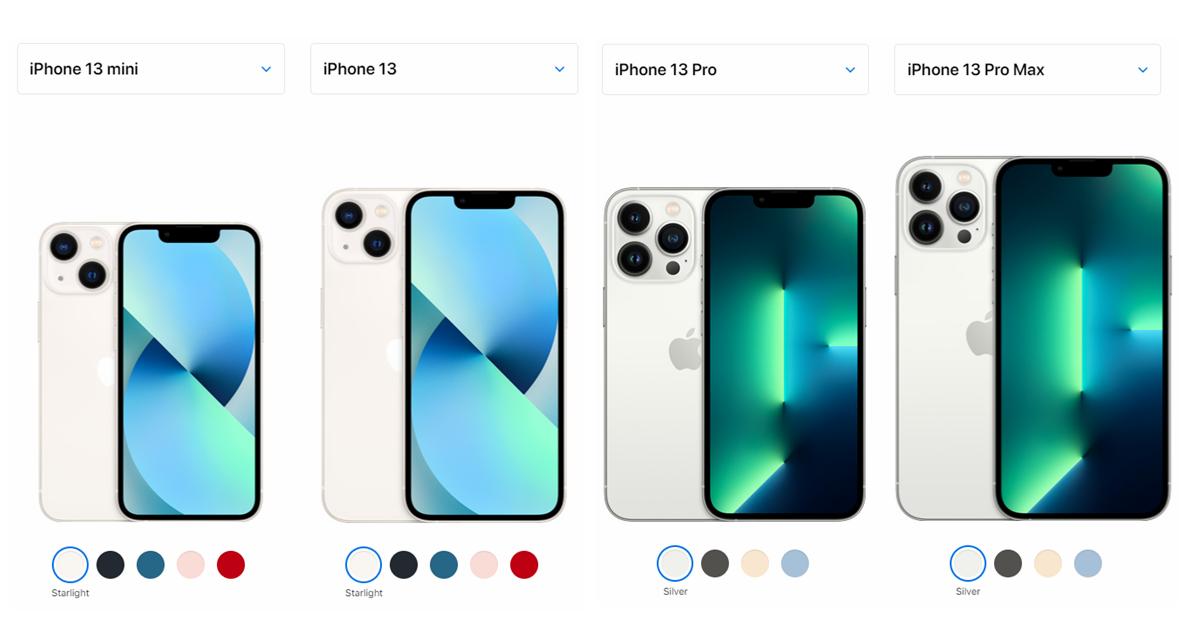 iPhone 13 Comparison