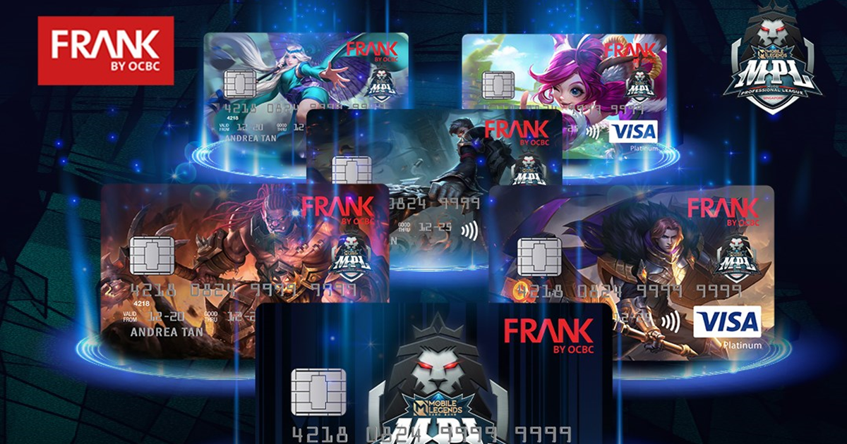 FRANK by OCBC Debit Cards featuring Mobile Legends: Bang Bang heroes now available